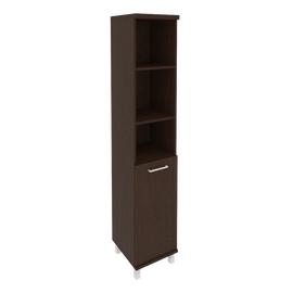 Шкаф для документов высокий узкий левый (1 низкая дверь ЛДСП) FIRST KSU-1.1L 400*430*2060 Венге, Цвет товара: Венге Цаво