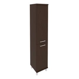 Шкаф для документов высокий узкий левый/правый (1 низкая дверь ЛДСП, 1 средняя дверь ЛДСП)FIRST KSU-1.3 401*432*2060 Венге, Цвет товара: Венге Цаво
