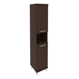 Шкаф для документов высокий узкий левый/правый (2 низкие двери ЛДСП) FIRST KSU-1.5 400*430*2060 Венге, Цвет товара: Венге Цаво