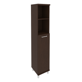 Шкаф для документов высокий узкий левый/правый (1 средняя дверь ЛДСП) FIRST KSU-1.6 400*430*2060 Венге, Цвет товара: Венге Цаво