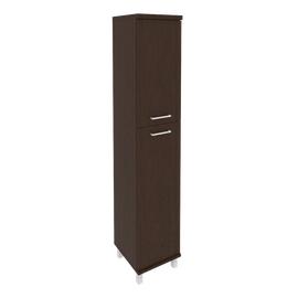 Шкаф для документов высокий узкий левый/правый (1 средняя дверь ЛДСП, 1 низкая дверь ЛДСП) FIRST KSU-1.8 400*430*2060 Венге, Цвет товара: Венге Цаво