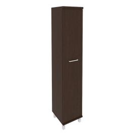 Шкаф для документов высокий узкий левый/правый (1 высокая дверь ЛДСП)FIRST KSU-1.9 400*430*2060 Венге, Цвет товара: Венге Цаво