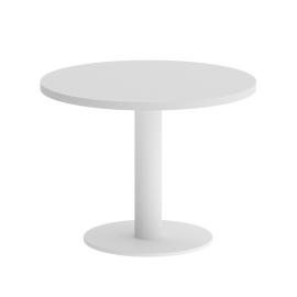 Стол журнальный круглый Home Office Riva VR.SP-5-60.1G Белый / Белый мет. 600*600*450, Цвет товара: Белый / Белый мет.