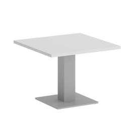 Стол журнальный квадратный Home Office Riva VR.SP-5-60.2G Белый / Серый мет. 600*600*450, Цвет товара: Белый / Серый мет.