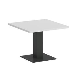 Стол журнальный квадратный Home Office Riva VR.SP-5-60.2G Белый / Антрацит мет. 600*600*450, Цвет товара: Белый / Антрацит мет.