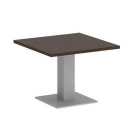 Стол журнальный квадратный Home Office Riva VR.SP-5-60.2G Венге / Серый мет. 600*600*450, Цвет товара: Венге / Серый мет.