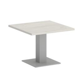 Стол журнальный квадратный Home Office Riva VR.SP-5-60.2G Дуб Наварра / Серый мет. 600*600*450, Цвет товара: Дуб Наварра / Серый мет.