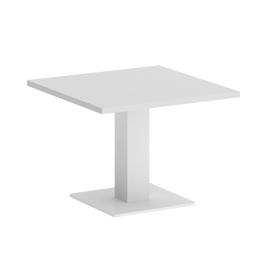 Стол журнальный квадратный Home Office Riva VR.SP-5-60.2G Белый / Белый мет. 600*600*450, Цвет товара: Белый / Белый мет.