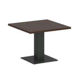Стол журнальный квадратный Home Office Riva VR.SP-5-60.2G Венге / Антрацит мет. 600*600*450, Цвет товара: Венге / Антрацит мет.