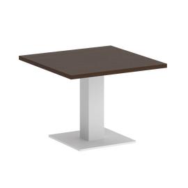 Стол журнальный квадратный Home Office Riva VR.SP-5-60.2G Венге / Белый мет. 600*600*450, Цвет товара: Венге / Белый мет.