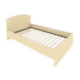 Кровать с ортопедическим основанием и изголовьем С-КИ-120 Клён 1250*2050*900, Цвет товара: Клен