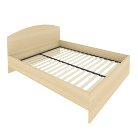 Кровать с ортопедическим основанием и изголовьем С-КИ-160 Акация 1650*2050*900, Цвет товара: Акация Лорка
