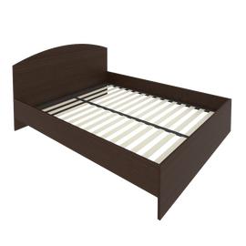 Кровать с ортопедическим основанием и изголовьем С-КИ-160 Венге 1650*2050*900, Цвет товара: Венге Цаво