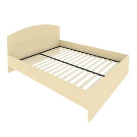 Кровать с ортопедическим основанием и изголовьем С-КИ-160 Клён 1650*2050*900, Цвет товара: Клен