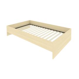 Кровать с ортопедическим основанием без изголовья С-К-120 Клён 1250*2050*400, Цвет товара: Клен