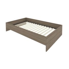 Кровать с ортопедическим основанием без изголовья С-К-120 Вяз 1250*2050*400, Цвет товара: Вяз Благородный