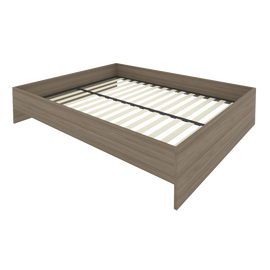 Кровать с ортопедическим основанием без изголовья С-К-160 Вяз 1650*2050*400, Цвет товара: Вяз Благородный
