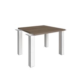 Элемент наборного переговорного стола YALTA с опорами LT-SV 1000х1200х750 Вяз Благородный, Цвет товара: Вяз Благородный
