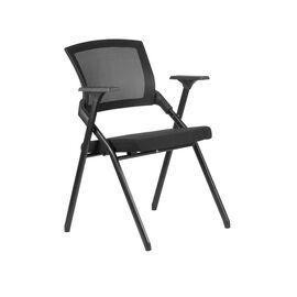 Офисное кресло складное для посетителей Riva Chair M2001 Чёрное складное, Цвет товара: Чёрный