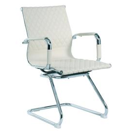 Офисное кресло для посетителей Riva Chair 6016-3 Светлый Беж (Q-071), Цвет товара: Бежевый