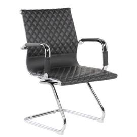 Офисное кресло для посетителей Riva Chair 6016-3 Чёрный (Q-01), Цвет товара: Черный
