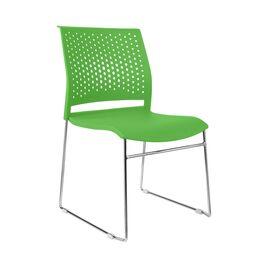 Офисное кресло для посетителей Riva Chair D918 (D918-1) Зелёный пластик, Цвет товара: Зеленый