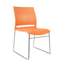 Офисное кресло для посетителей Riva Chair D918 (D918-1) Оранжевый пластик, Цвет товара: Оранжевый