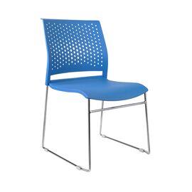 Офисное кресло для посетителей Riva Chair D918 (D918-1) Синий пластик, Цвет товара: Синий