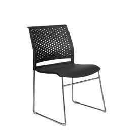 Офисное кресло для посетителей Riva Chair D918 Чёрный пластик, Цвет товара: Черный