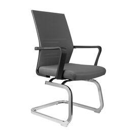 Офисное кресло для посетителей Riva Chair G818 Серая сетка на полозьях (крутящееся), Цвет товара: Cерый
