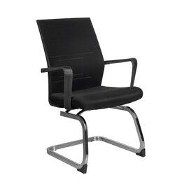 Офисное кресло для посетителей Riva Chair G818 Чёрная сетка на полозьях (крутящееся), Цвет товара: Черный