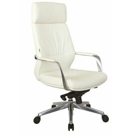 Компьютерное кресло для руководителя Riva Chair А1815 Белый (6207) натуральная кожа, Цвет товара: Белый