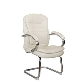 Офисное кресло для посетителей Riva Chair 9024-4 Бежевый QC-09, Цвет товара: Бежевый