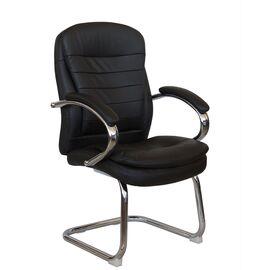 Офисное кресло для посетителей Riva Chair 9024-4 Черный QC-01, Цвет товара: Черный