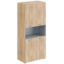 Шкаф с замками на глухих малых дверях  DHC 85.4  Дуб Каньон Dioni 892х470х1950 (без замка), Цвет товара: Венге магия