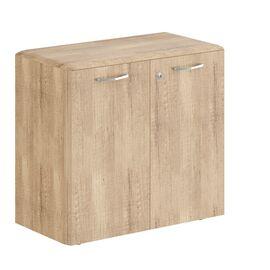 Шкаф низкий с малыми дверьми DLC 85.1(Z) Дуб Каньон Dioni 892х470х815 ( с замком), Цвет товара: Дуб Каньон