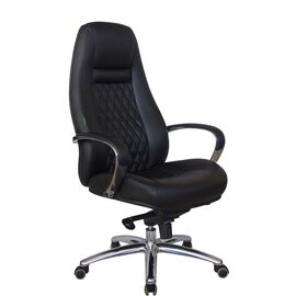 Компьютерное кресло для руководителя Riva Chair F185 Чёрный (А8) натуральная кожа, Цвет товара: Черный