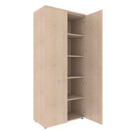 Шкаф для документов с глухими дверьми и топом XTEN XHC 85.1 Бук Тиара 850х410х1930, Цвет товара: Бук Тиара