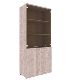 Шкаф для документов комбинированный с топом XTEN XHC 85.2 Дуб Сонома 850х410х1930, Цвет товара: Дуб Сонома