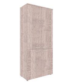 Шкаф для документов с глухими средними и малыми дверьми XTEN XHC 85.3 Дуб Сонома 850х410х1930, Цвет товара: Дуб Сонома