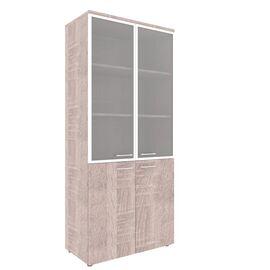 Шкаф для документов комбинированный рамка из алюминия с топом XTEN XHC 85.7 Дуб Сонома 850х410х1930, Цвет товара: Дуб Сонома
