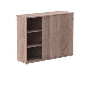 Шкаф средний со слайд дверьми XTEN ХМС 1443 Дуб Сонома 1406х430х1115, Цвет товара: Дуб Сонома