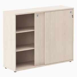 Шкаф средний со слайд дверьми XTEN ХМС 1443 Бук Тиара 1406х430х1115, Цвет товара: Бук Тиара