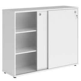 Шкаф средний со слайд дверьми XTEN ХМС 1443 Белый 1406х430х1115, Цвет товара: Белый