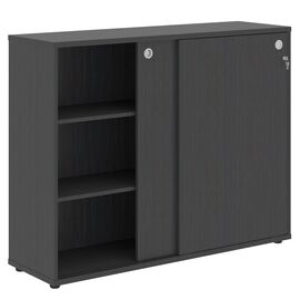 Шкаф средний со слайд дверьми XTEN ХМС 1443 Легно темный 1406х430х1115, Цвет товара: Легно темный