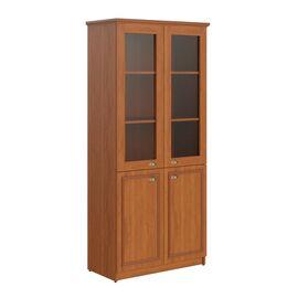 Шкаф для документов высокий комбинированный RHC 89.2 Орех Гарда 922х466х2023 Raut, Цвет товара: Орех гарда
