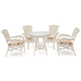 """Комплект обеденный """"ANDREA"""" ( стол + 4 кресла ) Белый TetChair, Цвет товара: Белый"""