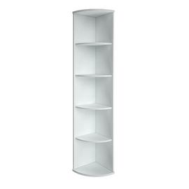 Стеллаж для документов высокий угловой RIVA А.УС-1 Белый 365х365х1980, Цвет товара: Белый