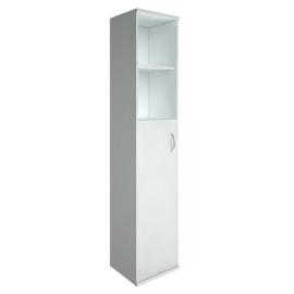 Шкаф для документов высокий узкий Левый (1 средняя дверь ЛДСП) RIVA А.СУ-1.6Л Белый 404х365х1980, Цвет товара: Белый