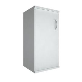Шкаф для документов низкий узкий левый (1 низкая дверь ЛДСП) RIVA А.СУ-3.1Л Белый 404х365х828, Цвет товара: Белый